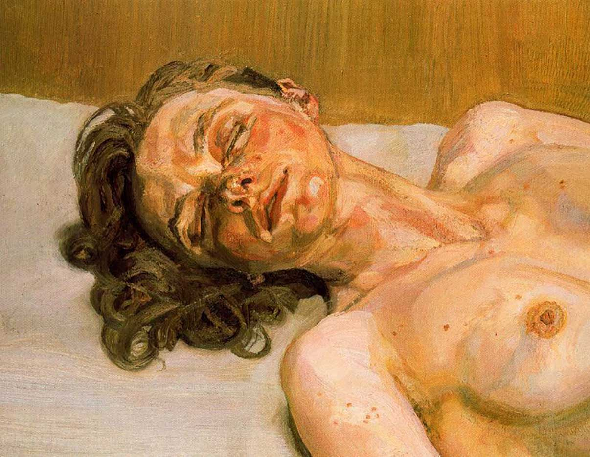 """Люсьен Фрейд (Lucian Freud), """"Girl with closed eyes"""""""