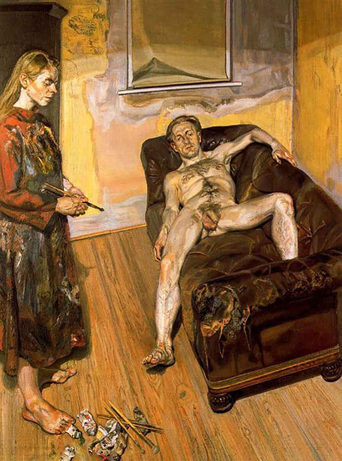 "Люсьен Фрейд (Lucian Freud), ""Painter and Model"""