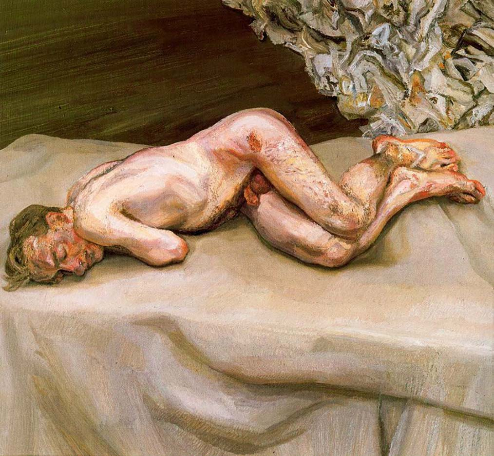 """Люсьен Фрейд (Lucian Freud), """"Naked Man on a Bed"""""""