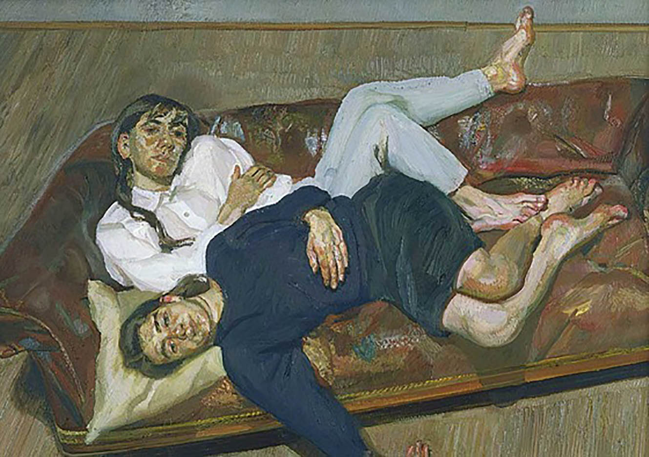"""Люсьен Фрейд (Lucian Freud), """"Bella and Esther"""""""