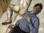 """Люсьен Фрейд (Lucian Freud), """"Двое мужчин"""""""
