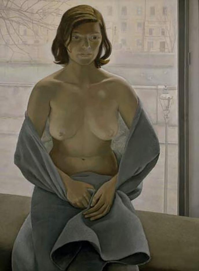 """Люсьен Фрейд (Lucian Freud), """"Девушка, укутанная в одеяло"""""""