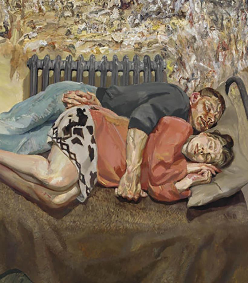 """Люсьен Фрейд (Lucian Freud), """"Айб и ее муж"""""""