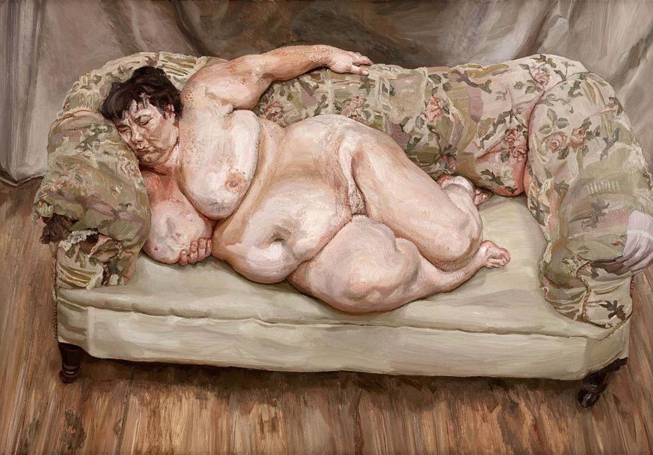 """Люсьен Фрейд (Lucian Freud), """"Социальный смотритель спит"""""""