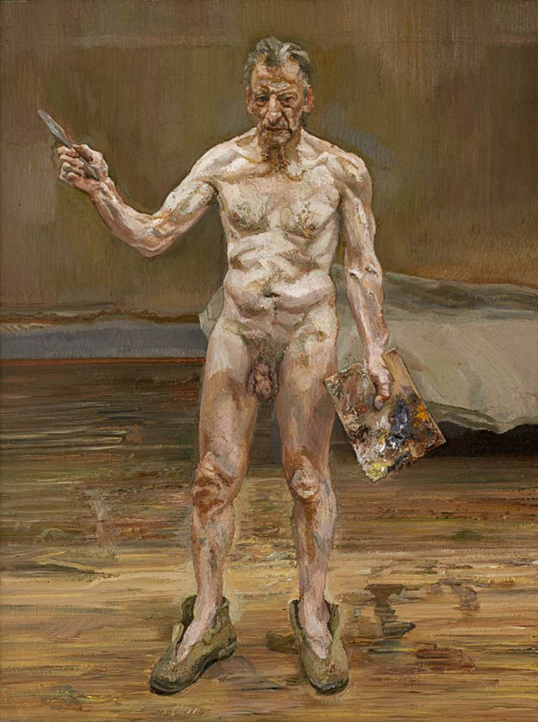 "Люсьен Фрейд (Lucian Freud), ""Painter Working, Reflection"""