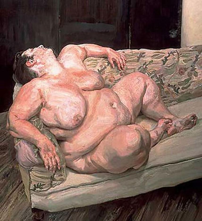 """Люсьен Фрейд (Lucian Freud), """"Социальный смотритель спит (2)"""""""