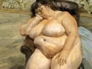 """Люсьен Фрейд (Lucian Freud), """"Спящая у ковра со львами (также известна как Сью Тилли)"""""""
