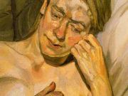 "Люсьен Фрейд (Lucian Freud), ""Девушка со светлыми волосами"""