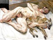 "Люсьен Фрейд (Lucian Freud), ""Солнечное утро восемь ног"""