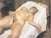 """Люсьен Фрейд (Lucian Freud), """"Портрет обнаженной и зеленое кресло"""""""