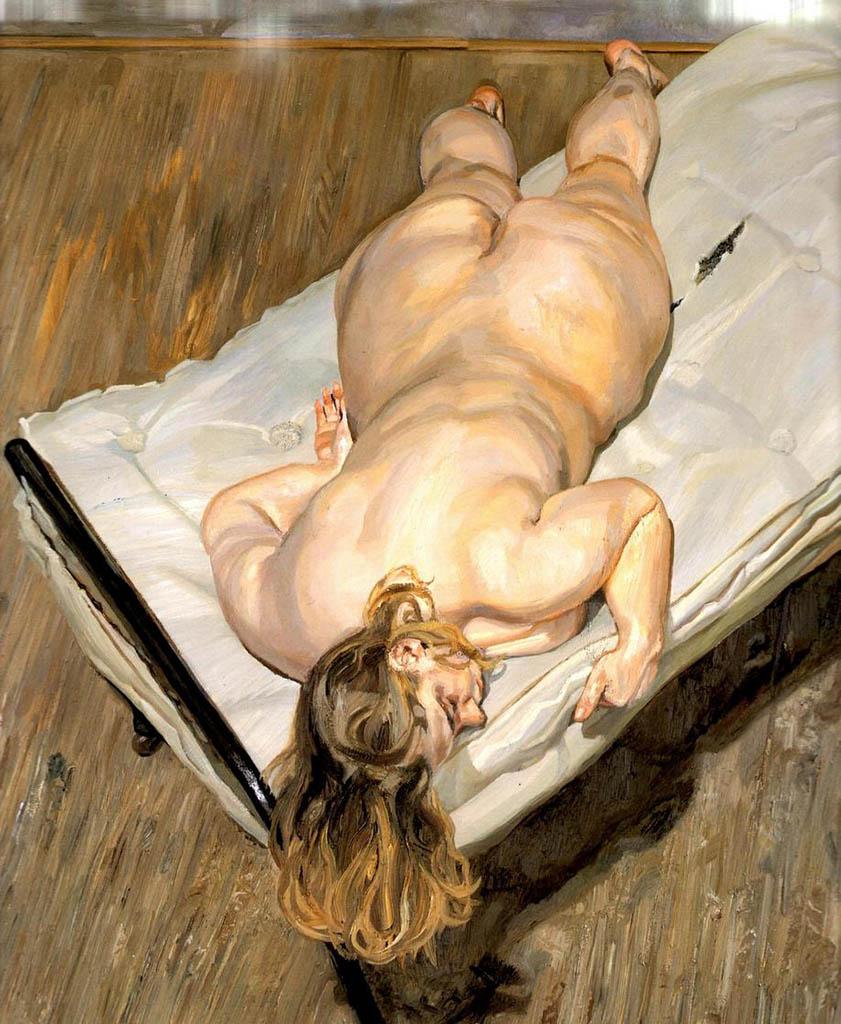"""Люсьен Фрейд (Lucian Freud), """"Ночной портрет лицом вниз"""""""