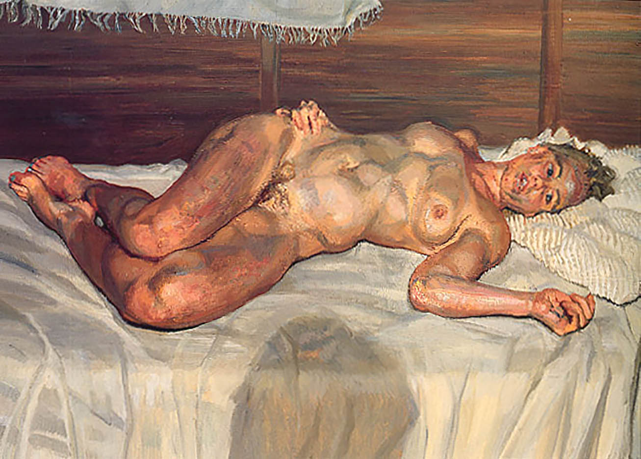 "Люсьен Фрейд (Lucian Freud), ""Flora with Blue Toe Nails"""