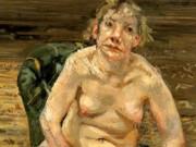 """Люсьен Фрейд (Lucian Freud), """"Отдых в зеленом кресле"""""""