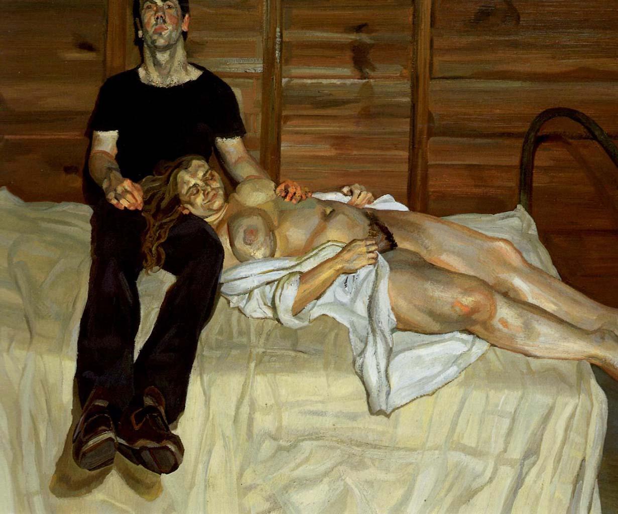 "Люсьен Фрейд (Lucian Freud), ""Джули и Мартин"""