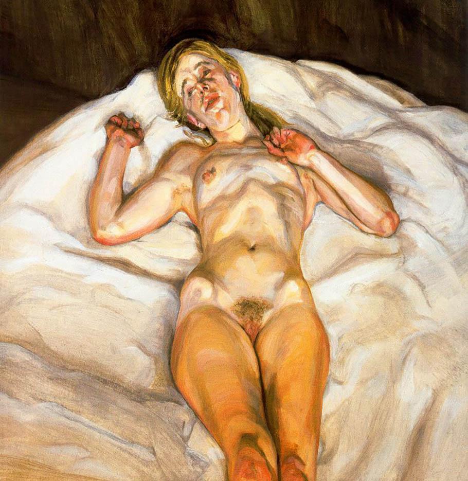 "Люсьен Фрейд (Lucian Freud), ""Обнаженная девушка"""