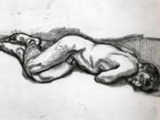 "Люсьен Фрейд (Lucian Freud), ""Спящая женщина"" (Drawing)"