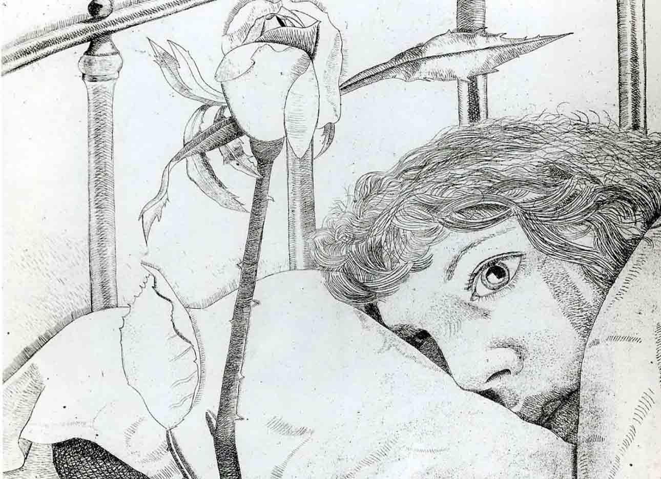 """Люсьен Фрейд (Lucian Freud), """"Айб в Париже"""" (Drawing)"""