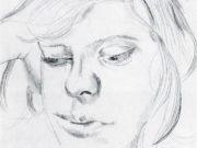"Люсьен Фрейд (Lucian Freud), ""Сюжет (41)"" (Drawing)"