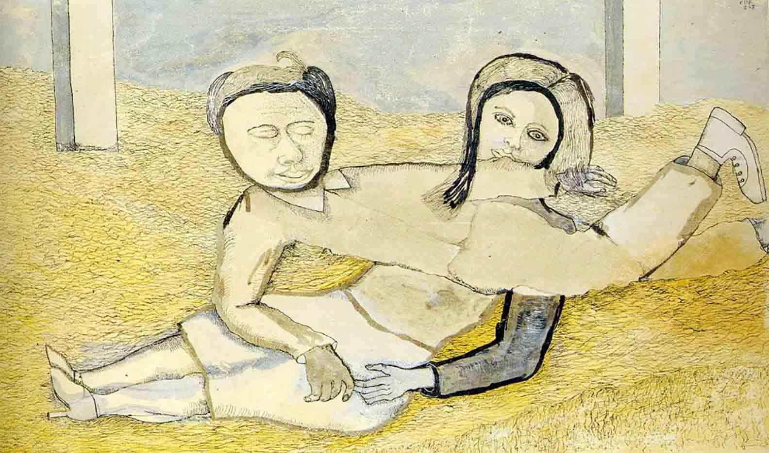 "Люсьен Фрейд (Lucian Freud), ""Мужчина и женщина"" (Drawing)"