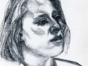 "Люсьен Фрейд (Lucian Freud), ""Девушка"" (Drawing)"