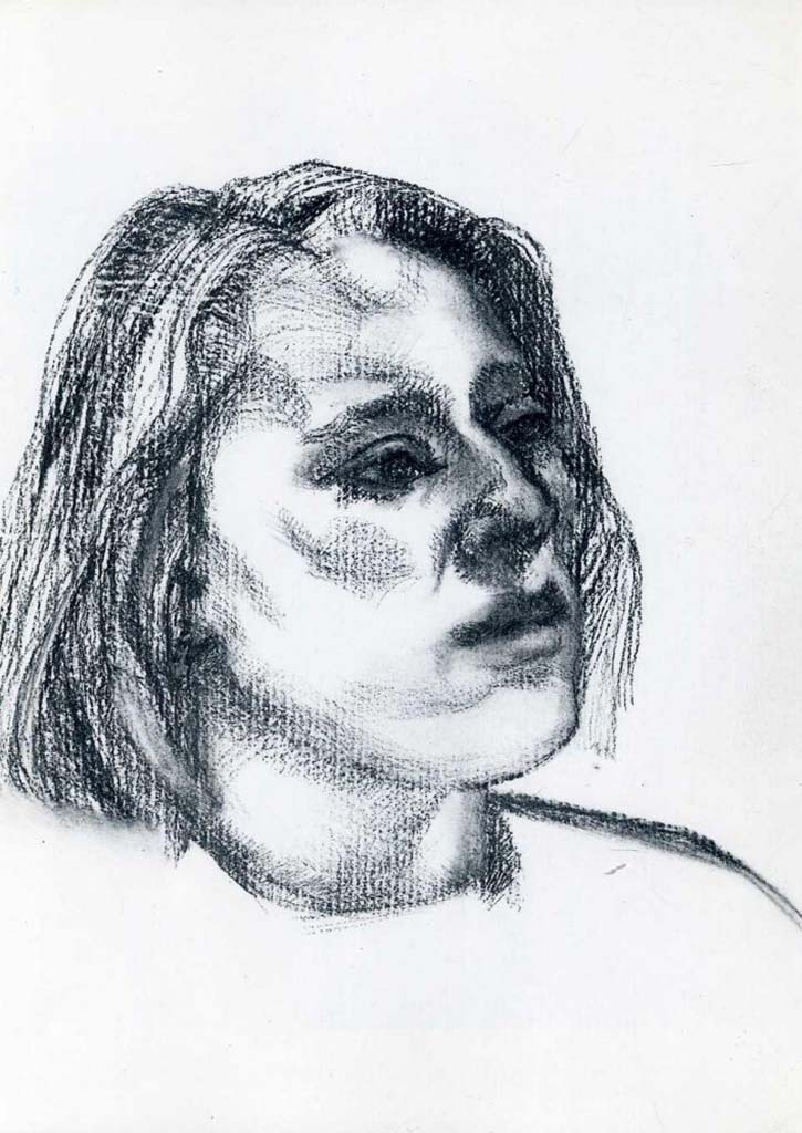 "Люсьен Фрейд (Lucian Freud), ""Девушка"" (Drawing)"