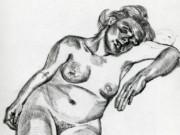 """Люсьен Фрейд (Lucian Freud), """"Блондинка"""" (Drawing)"""