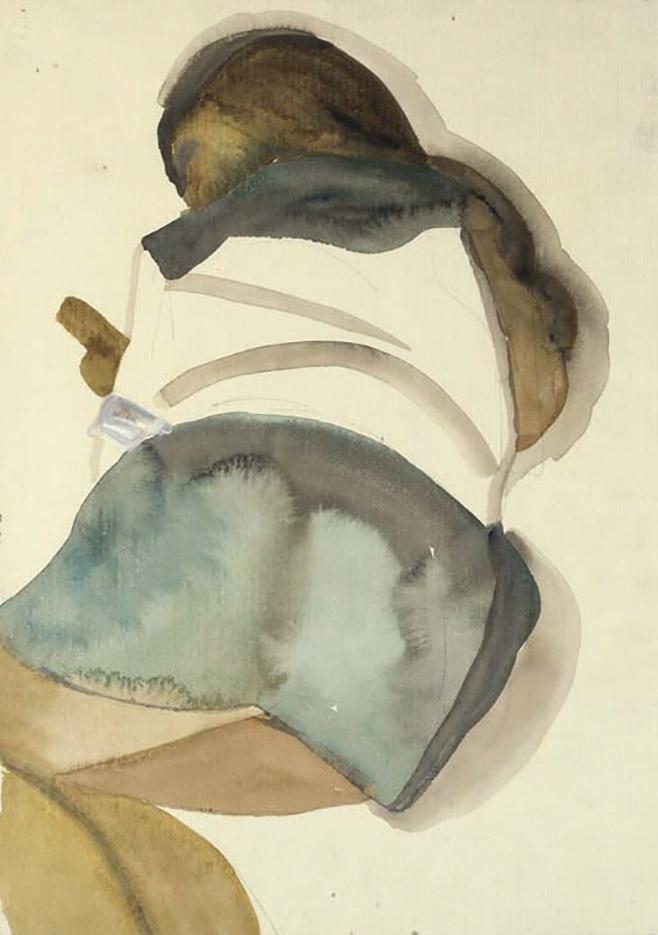 """Люсьен Фрейд (Lucian Freud), """"Читающий ребенок II"""" (Drawing)"""