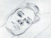 "Люсьен Фрейд (Lucian Freud), ""Голова женщины"" (Drawing)"