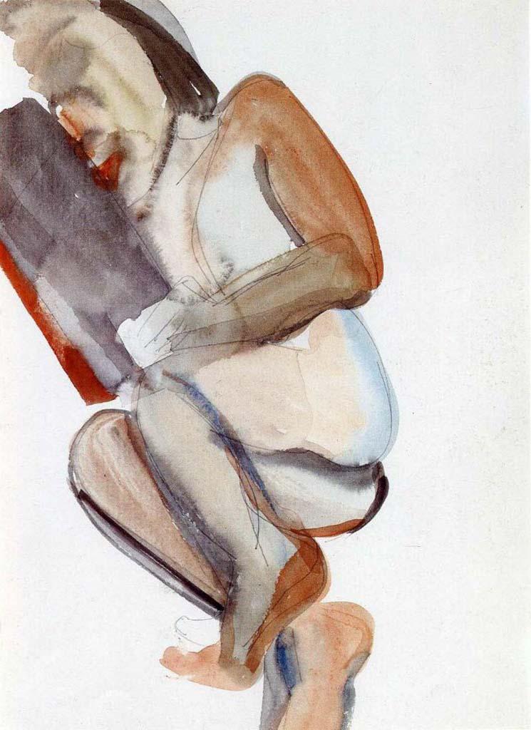 "Люсьен Фрейд (Lucian Freud), ""Грусть"" (Drawing)"