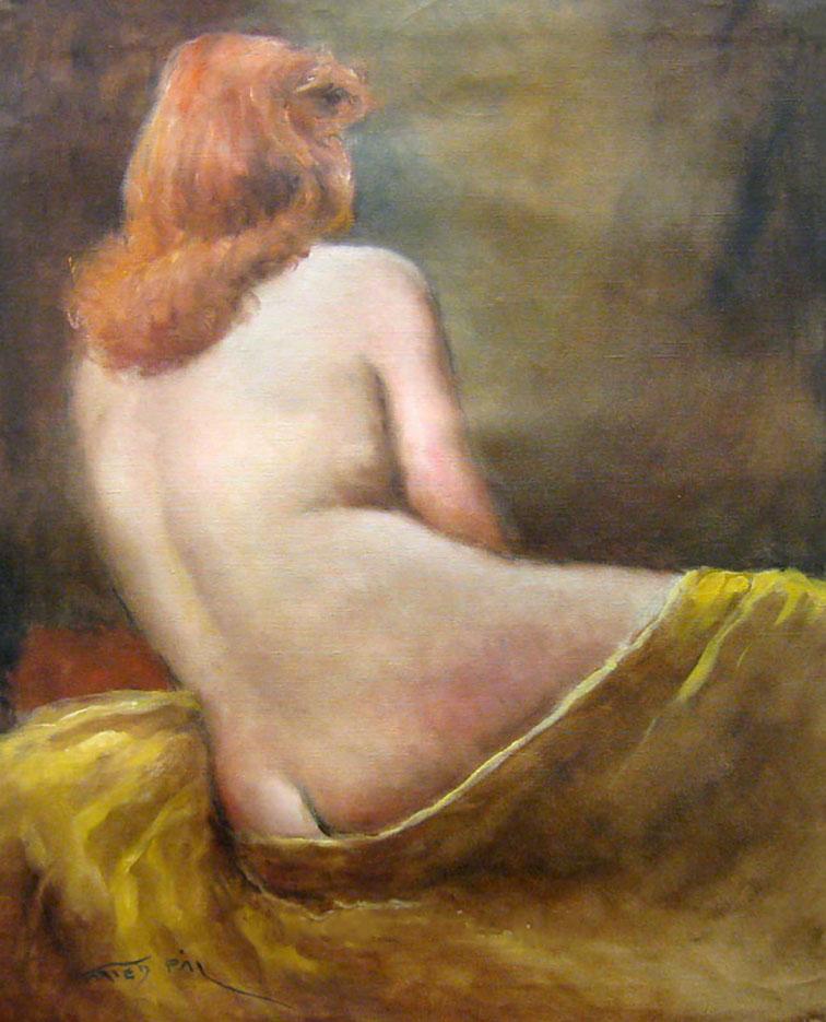 "Пал Фрид (Pal Fried), ""Red Head Nude Back"""