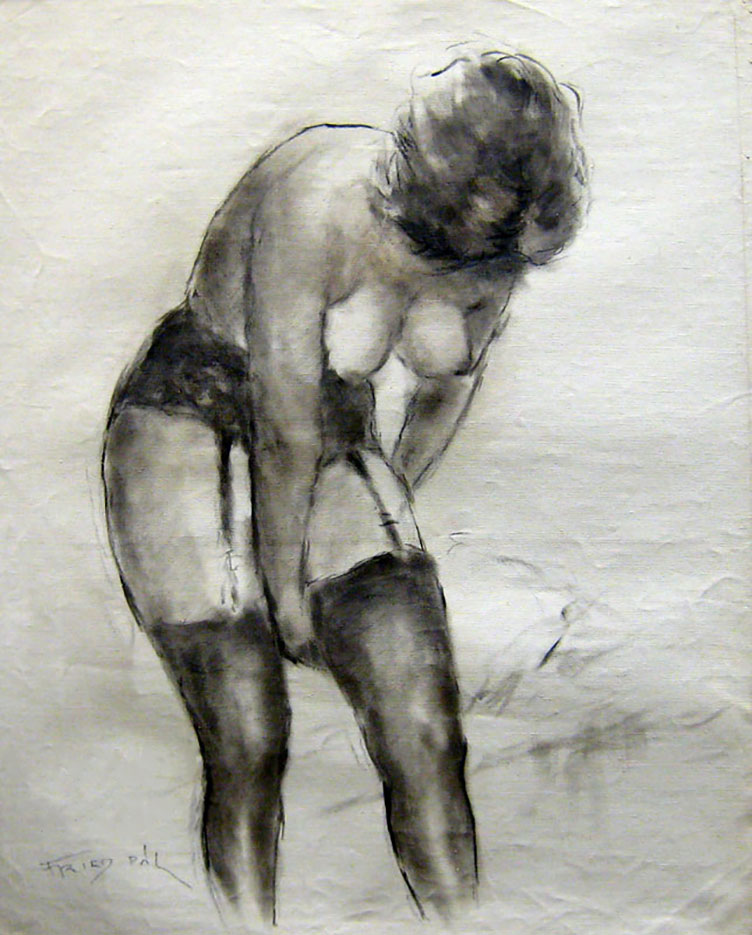 "Пал Фрид (Pal Fried), ""Nude Black Stockings"""