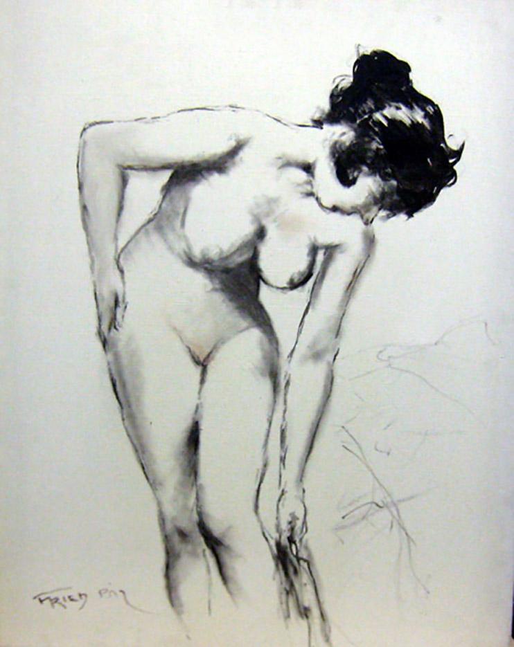 "Пал Фрид (Pal Fried), ""Nude sketch"""