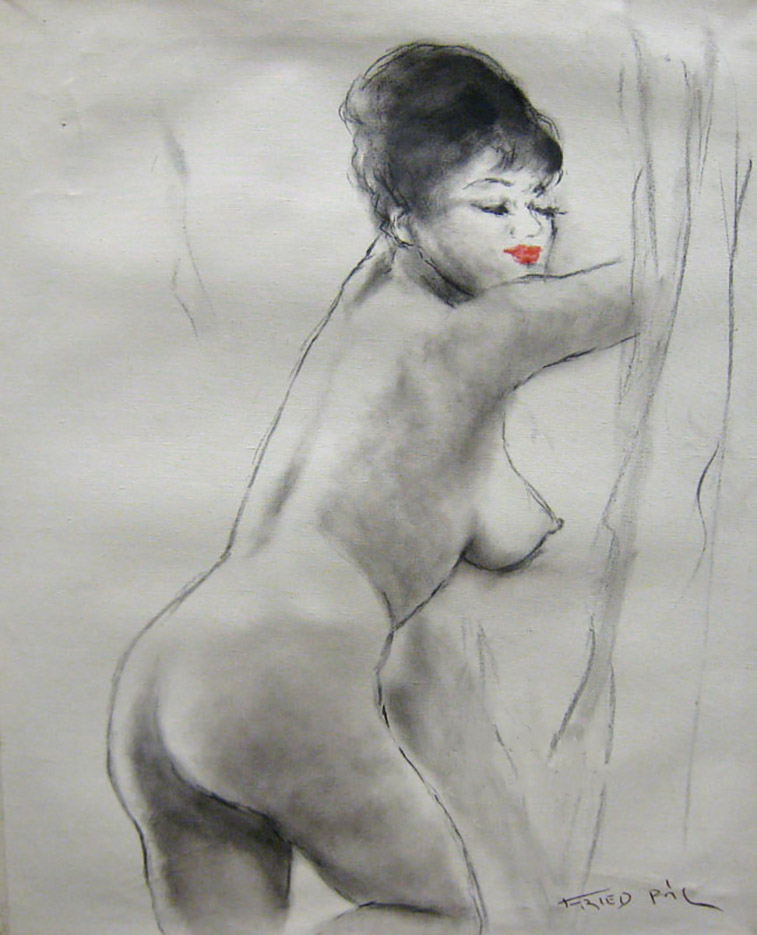 "Пал Фрид (Pal Fried), ""Red Lips Nude"""