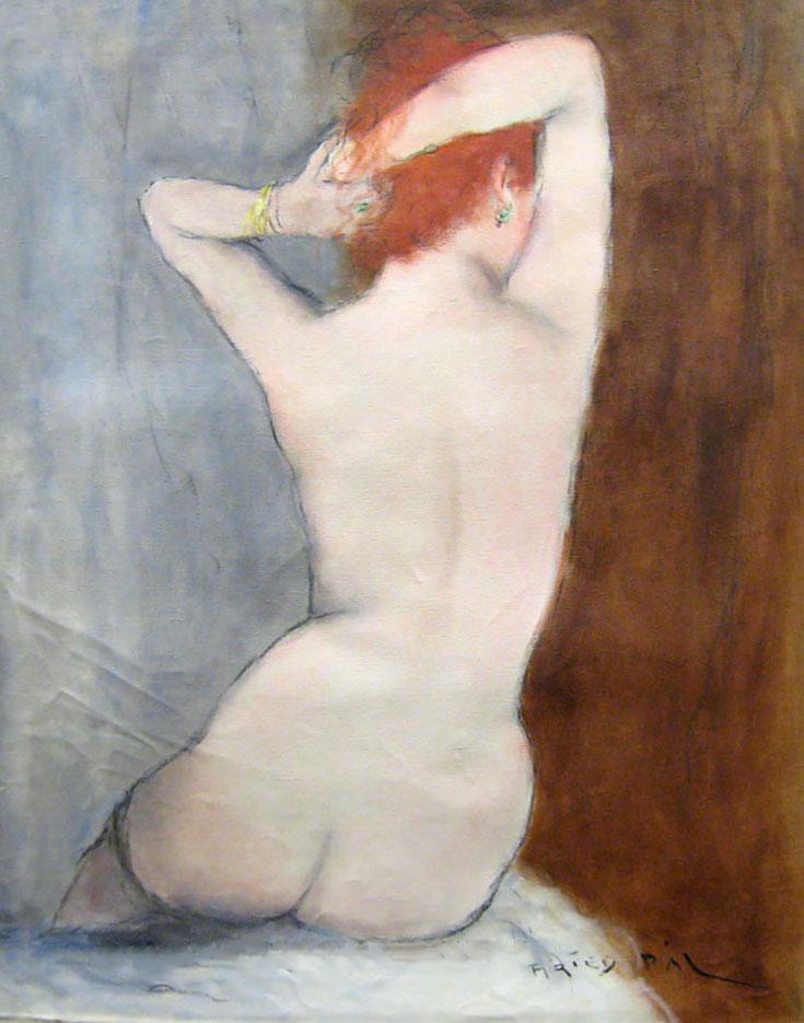 "Пал Фрид (Pal Fried), ""Red Head Nude Black Stockings"""