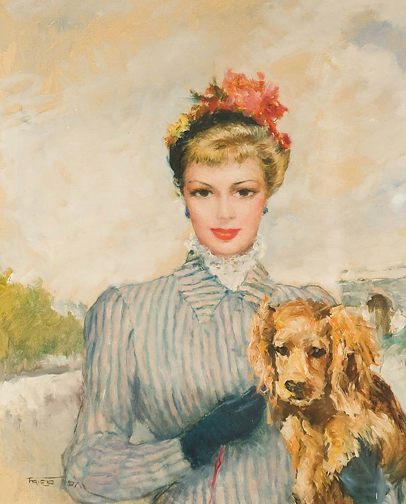 """Пал Фрид (Pal Fried), """"The lady with the dog"""""""