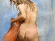 "Пал Фрид (Pal Fried), ""Blond Nude Back Red Scarf"""