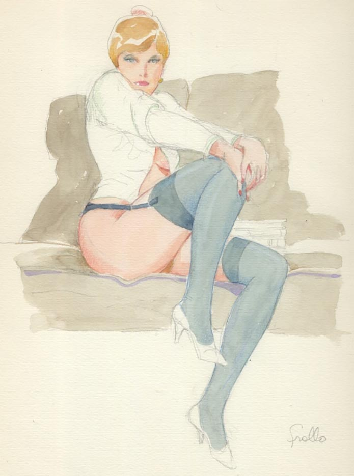 "Леон Фролло (Leone Frollo) ""On the Sofa"""