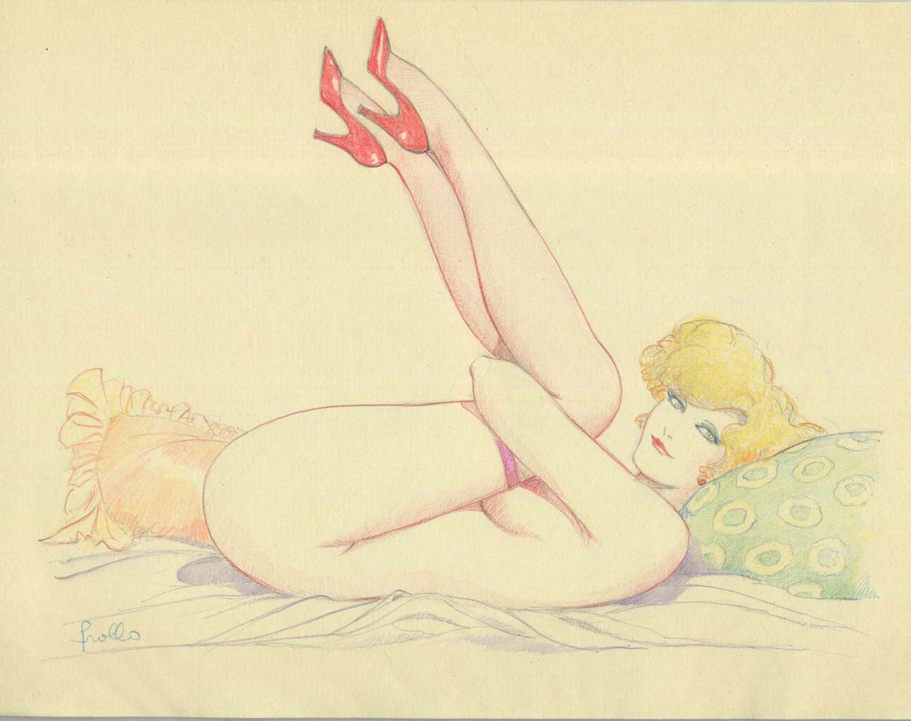 "Леон Фролло (Leone Frollo) ""Mona Street on the Bed"""