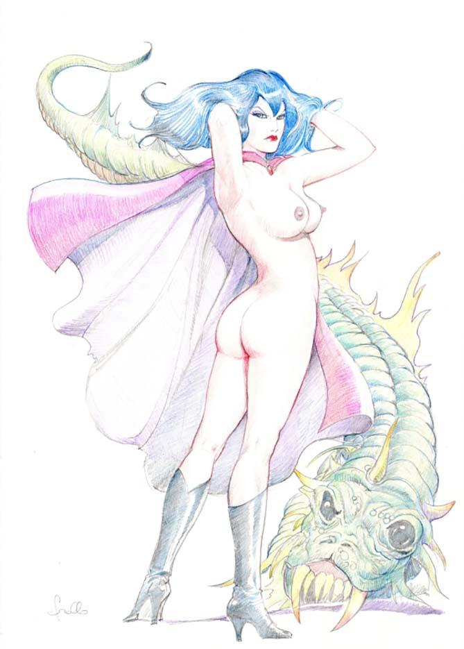 "Леон Фролло (Leone Frollo) ""Lucifera (Pastel)"""
