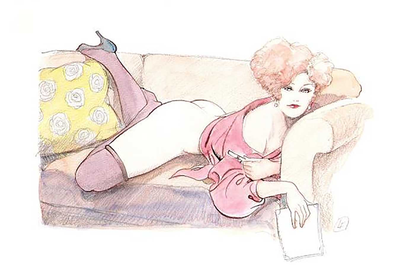 "Леон Фролло (Leone Frollo) ""Original for postcards portfolio - 1991"""