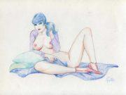 """Леон Фролло (Leone Frollo) """"Ragazza in blu"""""""