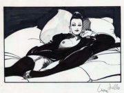 "Леон Фролло (Leone Frollo) ""Black Bed"" (drawing)"