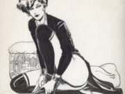 "Леон Фролло (Leone Frollo) ""Dark Lady"" (drawing)"