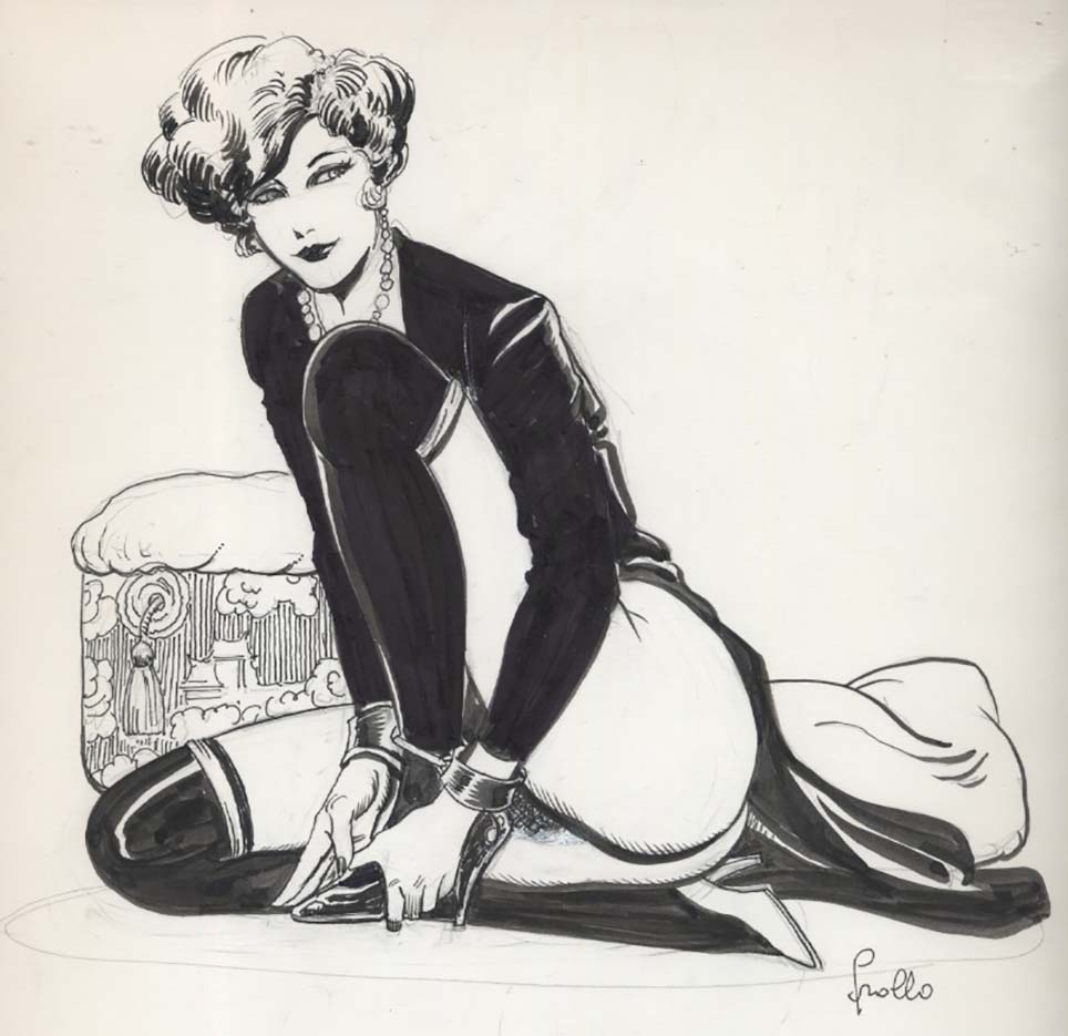 "Леон Фролло (Leone Frollo) ""Dark Lady"" (drawing)"