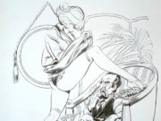 "Леон Фролло (Leone Frollo) ""Naga 25"" (drawing)"