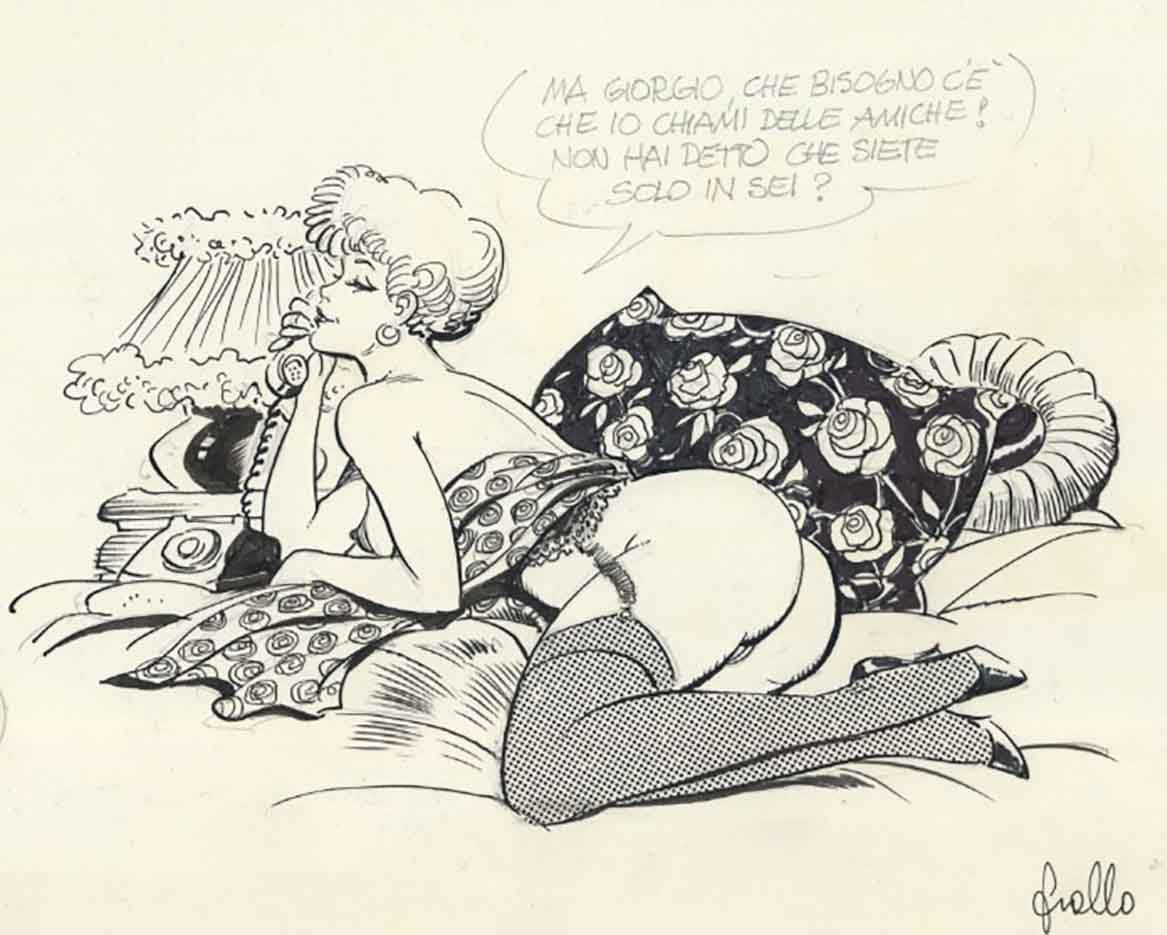 "Леон Фролло (Leone Frollo) ""Call Girl"" (drawing)"
