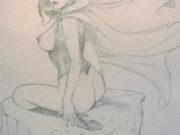 "Леон Фролло (Leone Frollo) ""Lucifera - 2"" (drawing)"