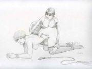 "Леон Фролло (Leone Frollo) ""Sado Maso 2"" (drawing)"