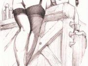 "Леон Фролло (Leone Frollo) ""Untitled - 33"" (drawing)"