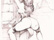 "Леон Фролло (Leone Frollo) ""Untitled - 34"" (drawing)"